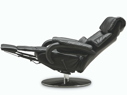 Himolla 7217 Cosyform Tobi lænestol med indbygget skammel - large