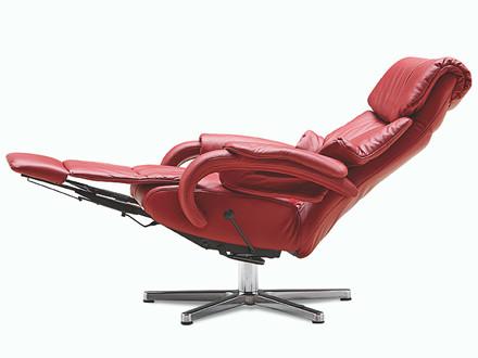 Cosyform Tobi lænestol med indbygget skammel - large