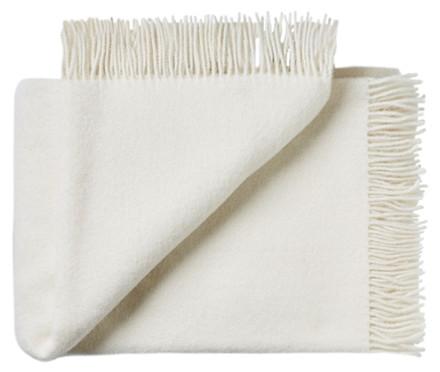 Troja uld plaid - hvid