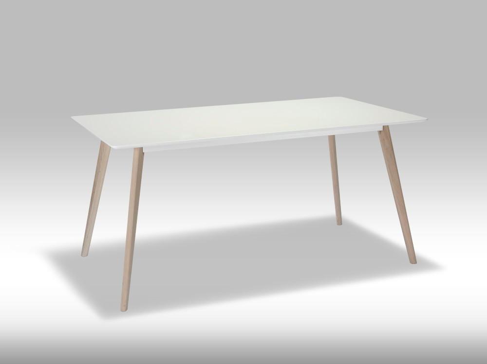 Life spisebord - hvid/egetræ
