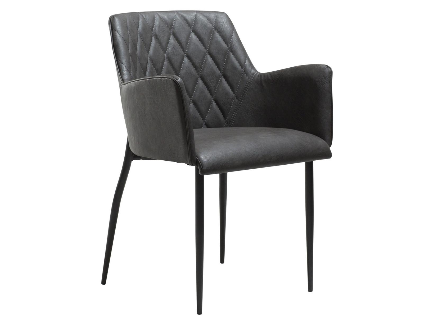 Rombo spisebordsstol - Grå læderlook