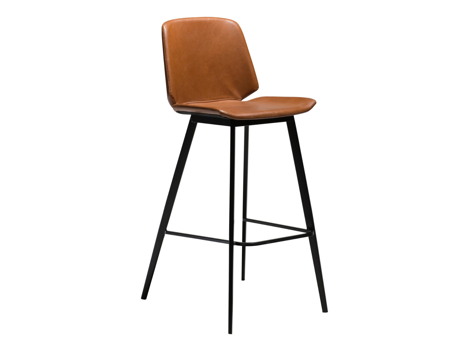 Swing barstol - Lysebrun læderlook