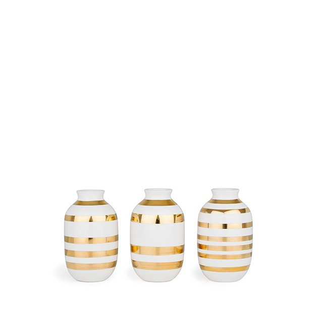 Omaggio Vase Guld Miniature 3-Pak