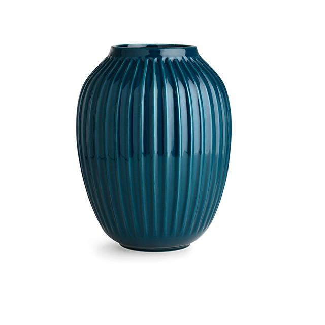 Hammershøi Vase Petroleumsblå Stor