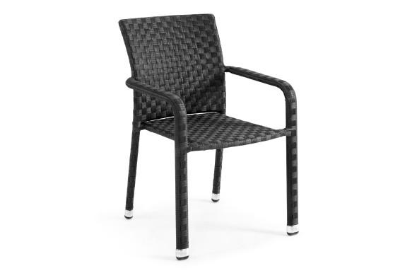 Colico havestol med armlæn - sort