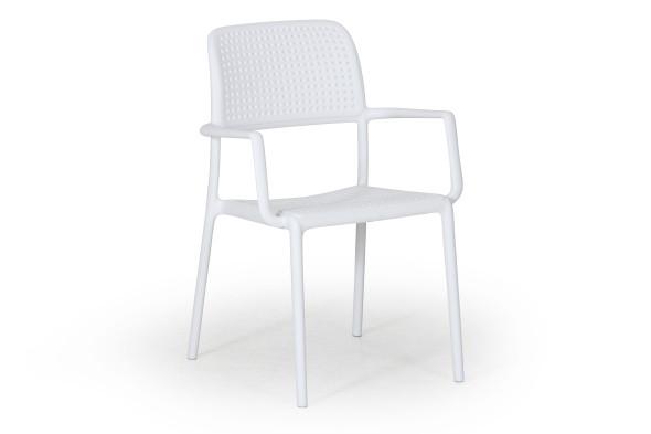 Bora havestol med armlæn - hvid