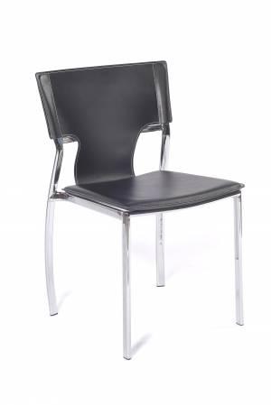 Charlotte spisebordsstol, sort og krom