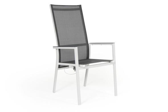 Avanti havestol large - hvid/grå
