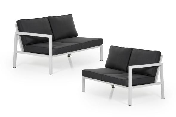 Belfort end pieces - hvid/grå