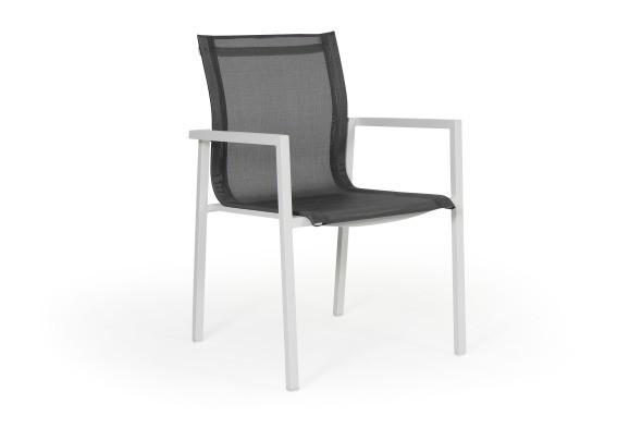 Belfort havestol - hvid/ grå