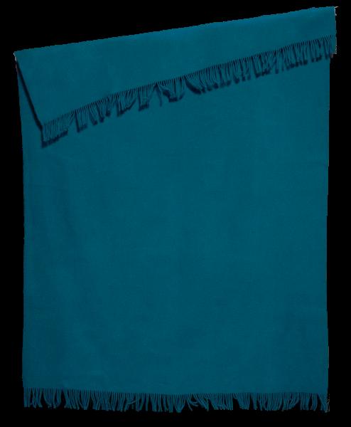Troja uld plaid - petroleum blå