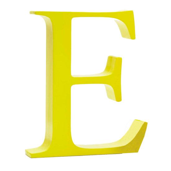 AlphaArt bogstav stort E - gul