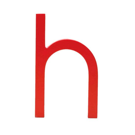 AlphaArt bogstav lille h - rød