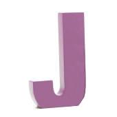 AlphaArt bogstav stort J - lavendel