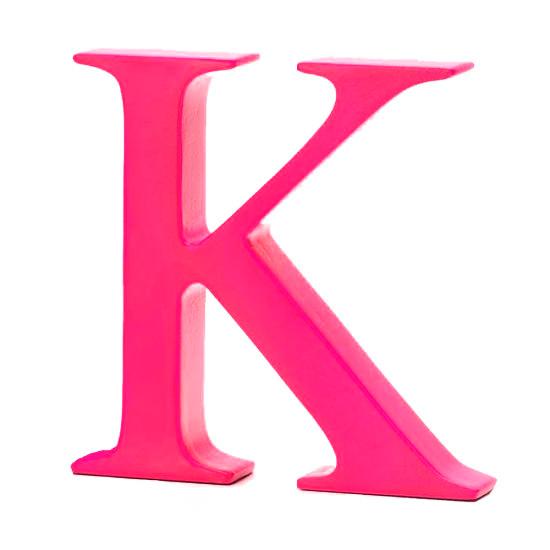 AlphaArt bogstav stort K - pink