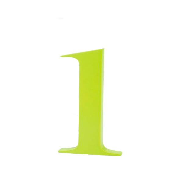 AlphaArt bogstav lille l - limegrøn