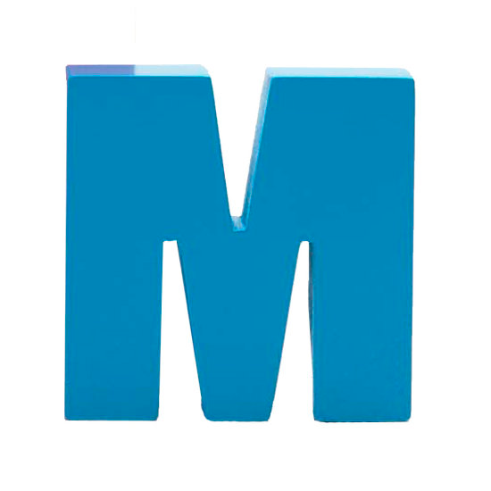 AlphaArt bogstav stort M - blå