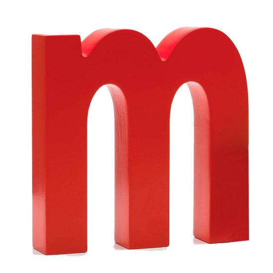 AlphaArt bogstav lille m - rød