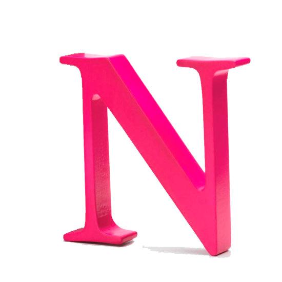 AlphaArt bogstav stort N - pink