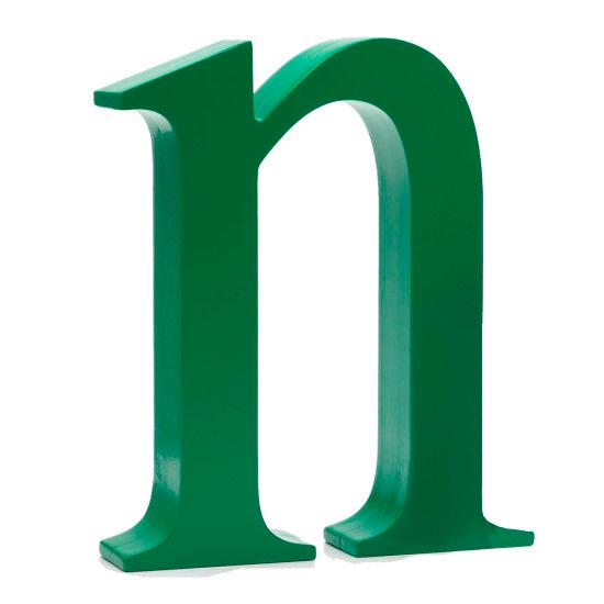 AlphaArt bogstav lille n - grøn