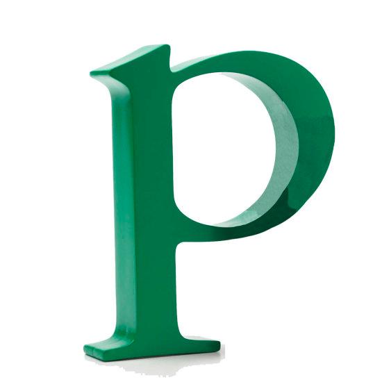 AlphaArt bogstav lille p - grøn