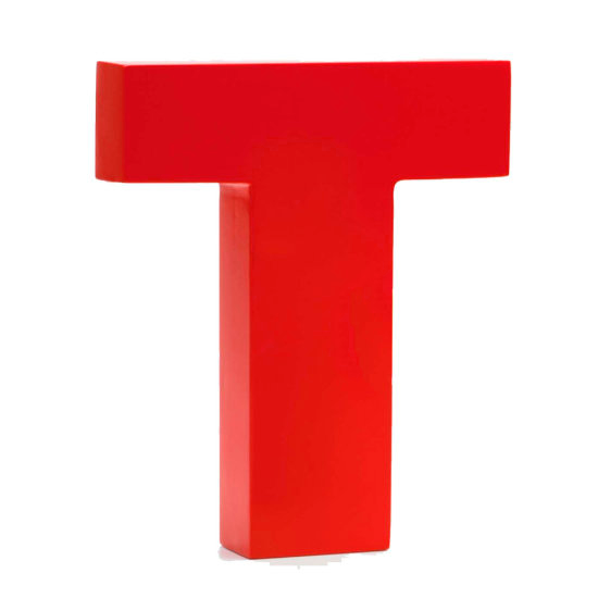 AlphaArt bogstav stort T - rød