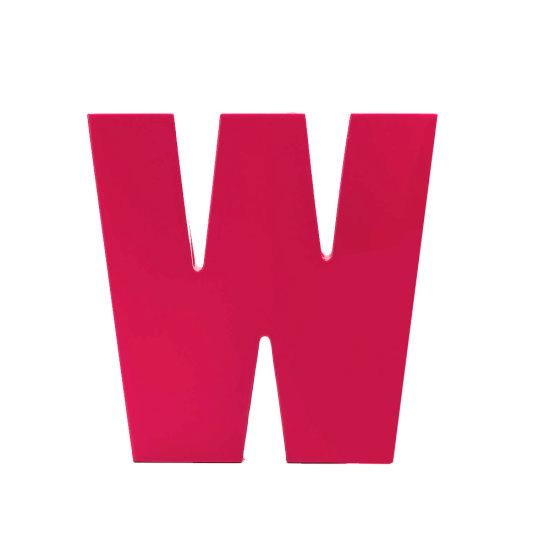 AlphaArt bogstav stort W - pink