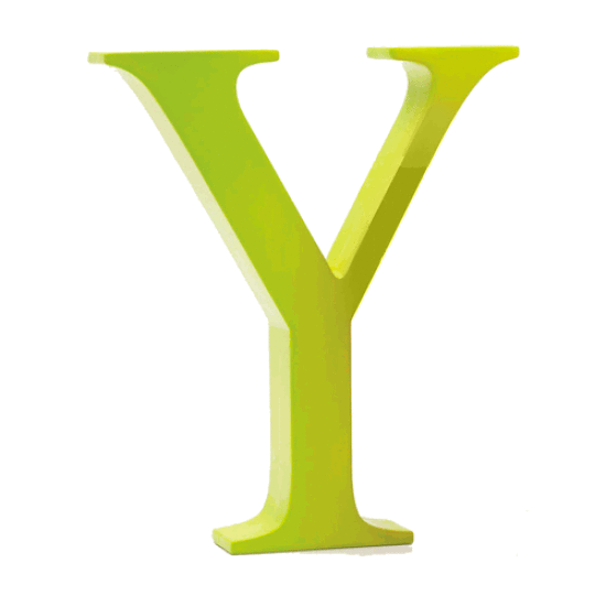 AlphaArt bogstav stort Y - limegrøn