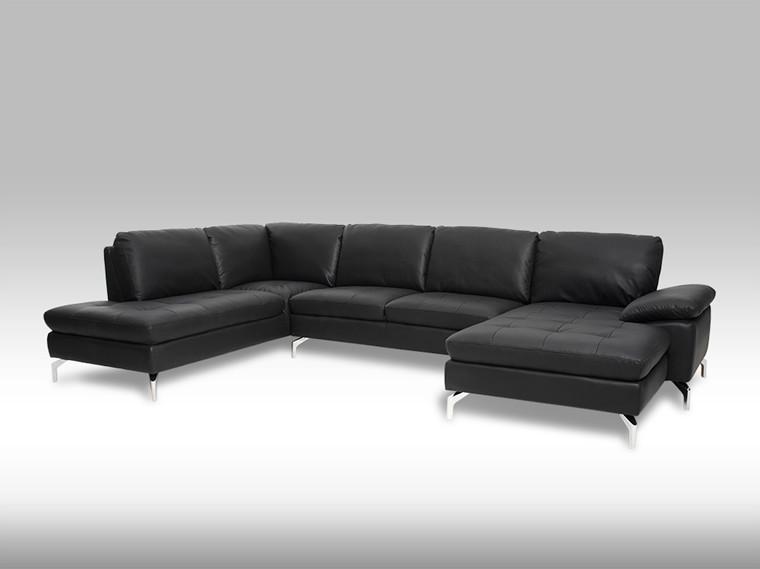 Bolette h. U-sofa - sort