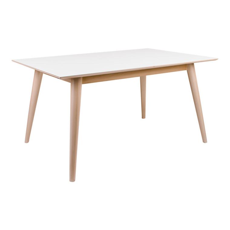 Copenhagen spisebord - hvid plade - egetræ stel