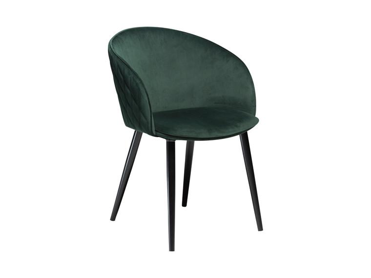 Dual spisebordsstol - Grøn velour