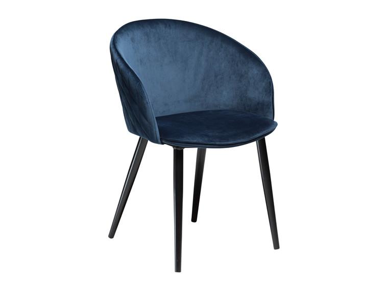 Dual spisebordsstol - Blå velour