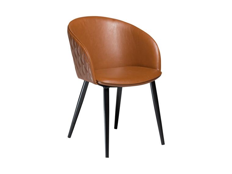 Dual spisebordsstol - Lysebrun læderlook