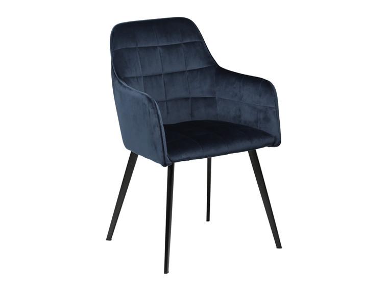 Embrace spisebordsstol - Blå velour