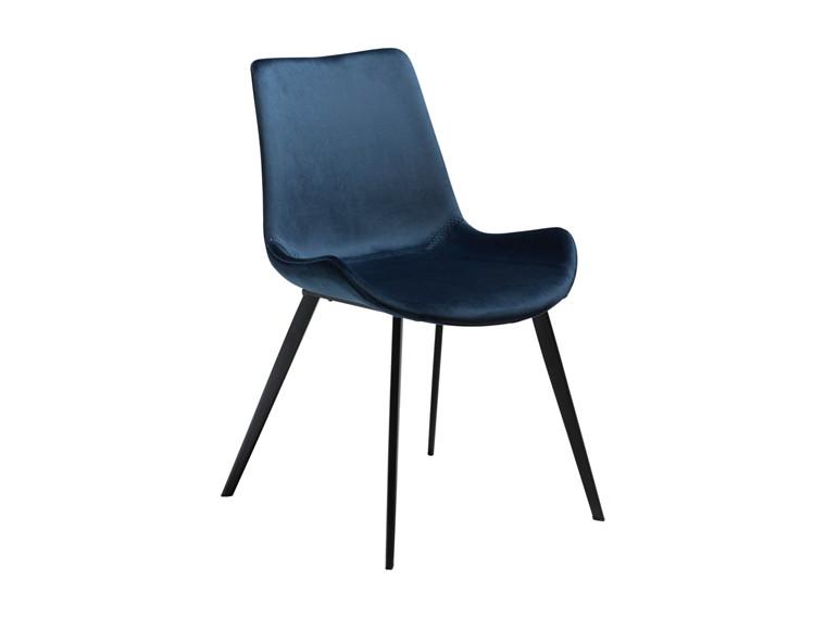 Hype spisebordsstol - Blå velour