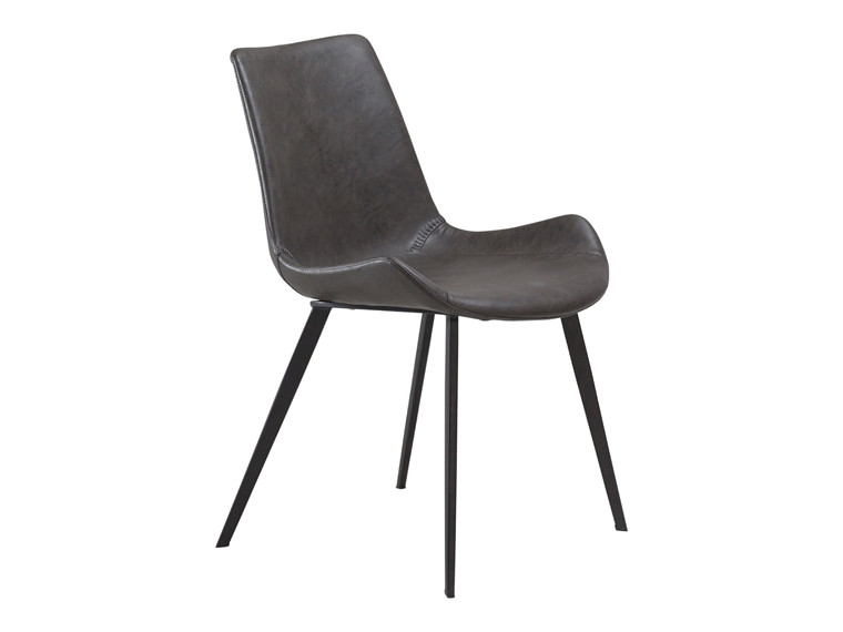 Hype spisebordsstol - Grå læderlook