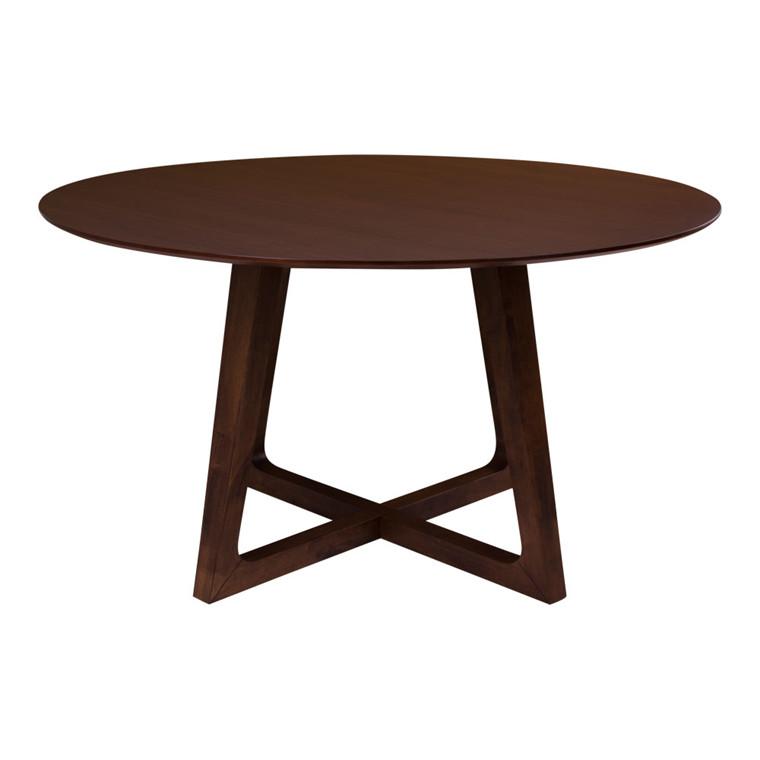 Hellerup spisebord - valnød plade - valnød stel