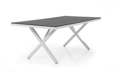 Leone havebord medium - hvid og grå