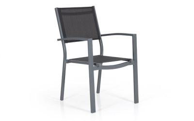 Leone havestol med armlæn - grå