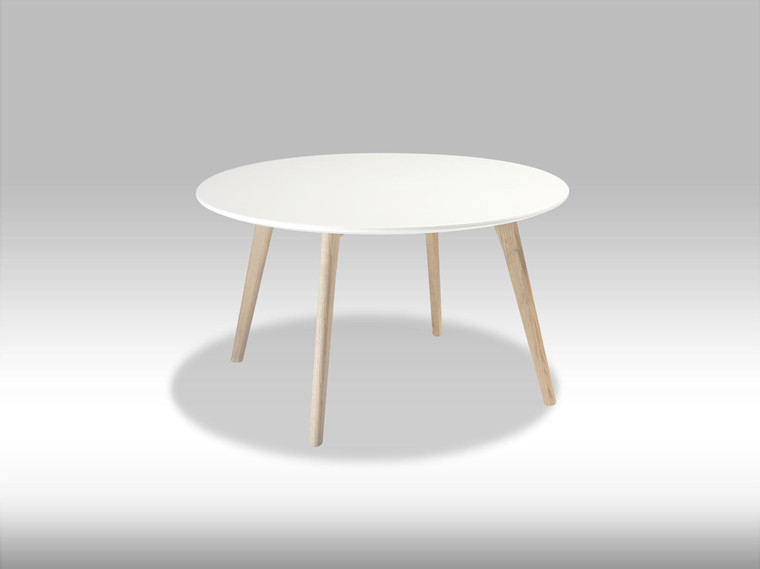 Life sofabord - hvid/egetræ