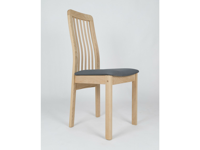 Line spisebordsstol m. træ ryg - tekstil