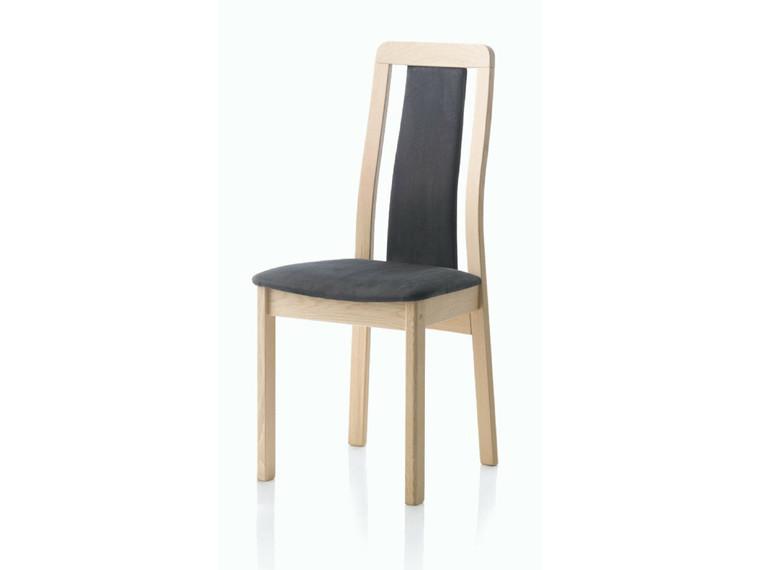 Line spisebordsstol m. polstret ryg - tekstil