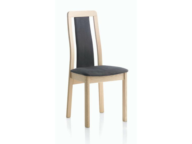 Line spisebordsstol m. polstret ryg - læder