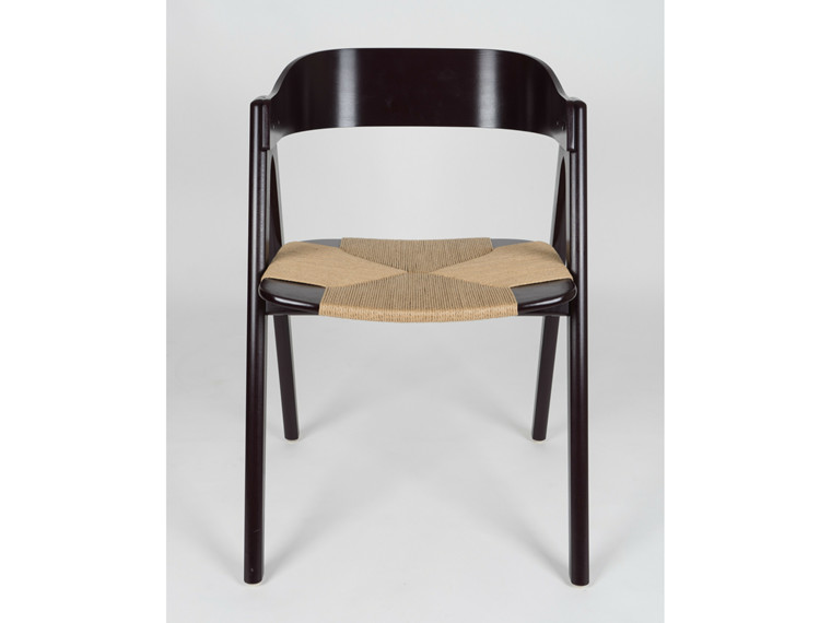 Mette spisebordsstol m. træ ryg - fletsæde