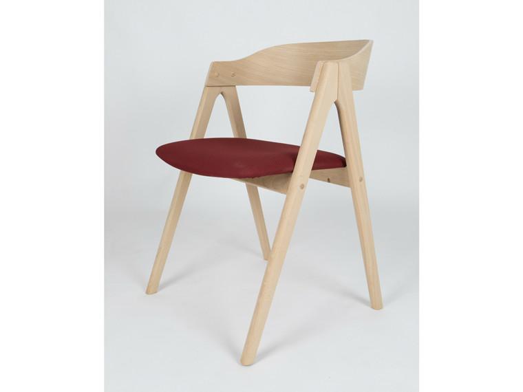 Mette spisebordsstol m. træ ryg - tekstil