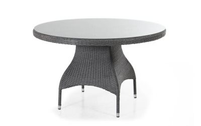 Ninja havebord rund small - grå