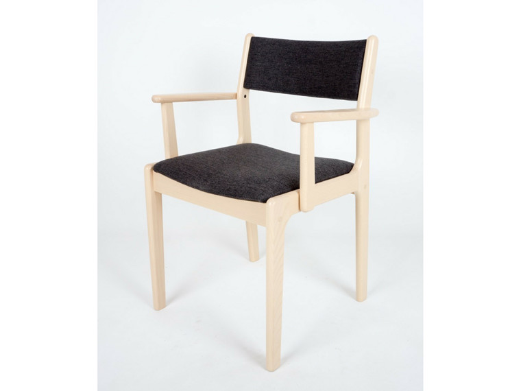 Nybøl spisebordsstol m. armlæn - tekstil