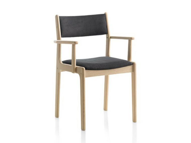 Nybøl spisebordsstol m. armlæn - læder