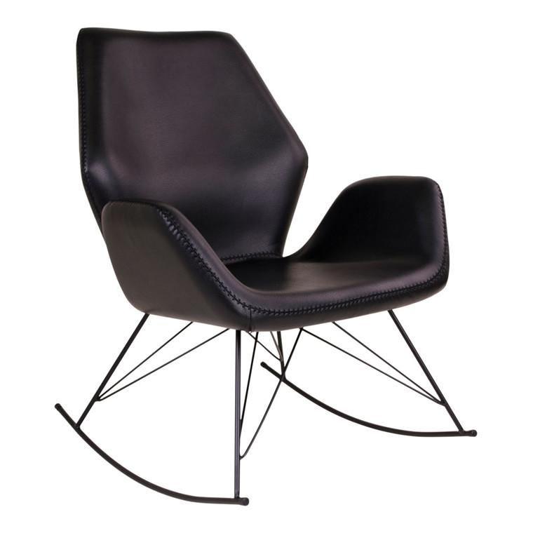 Nybro gyngestol - sort sæde - sort stel