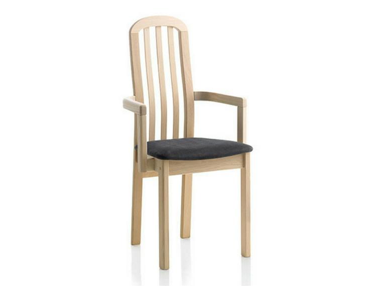 Ponti spisebordsstol m. armlæn - tekstil